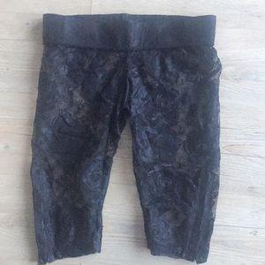 Pants - Black Lace bike shorts